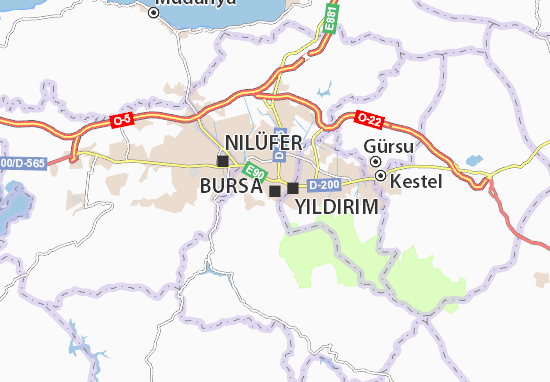 Mapa Plano Bursa