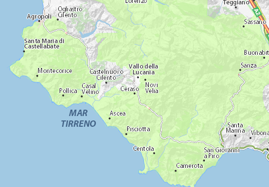Kaart Plattegrond Ceraso