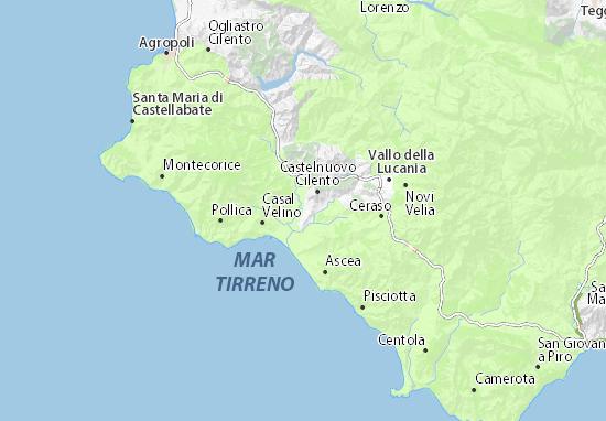 Mappa MICHELIN Casal Velino Scalo - Pinatina di Casal ...