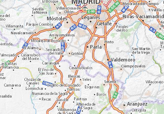 Mappe-Piantine Torrejón de la Calzada