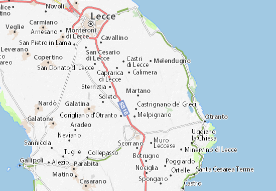 Martano map detailed maps for the city of martano for Weather 73025