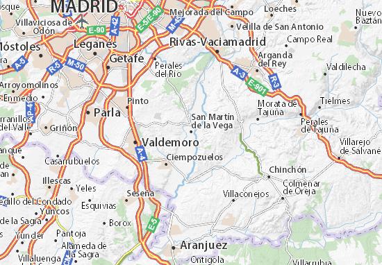 Carte-Plan San Martín de la Vega