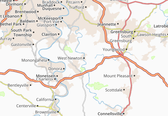 West Newton Map