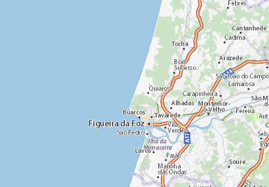 Praia De Quiaios Map Detailed Maps For The City Of Praia De - Praia map
