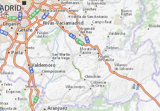 Morata de Tajuña Map