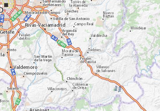 Perales de Tajuña Map