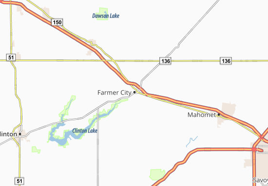 Farmer City Map