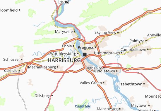 Wormleysburg Map