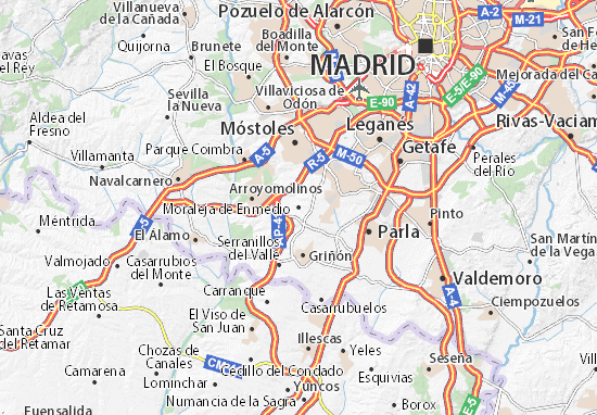 Moraleja de Enmedio Map