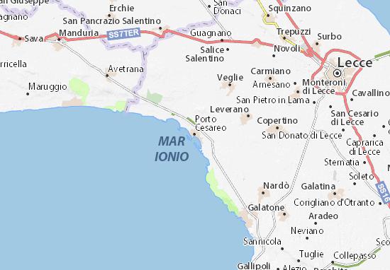 Porto Cesareo Map
