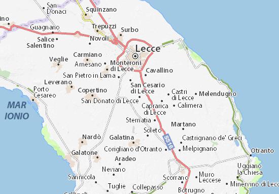 San Donato di Lecce Map