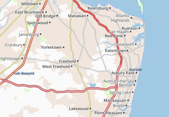 Mapas-Planos East Freehold