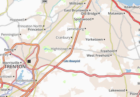 Mapas-Planos Hightstown