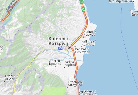 Mapa Plano Kateríni