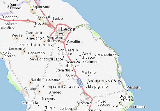 Mapa Plano Castri di Lecce