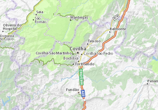 Mapa Plano Covilhã-Santa Maria
