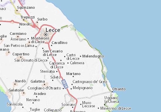 Salento Cartina Stradale.Mappa Michelin Melendugno Pinatina Di Melendugno Viamichelin