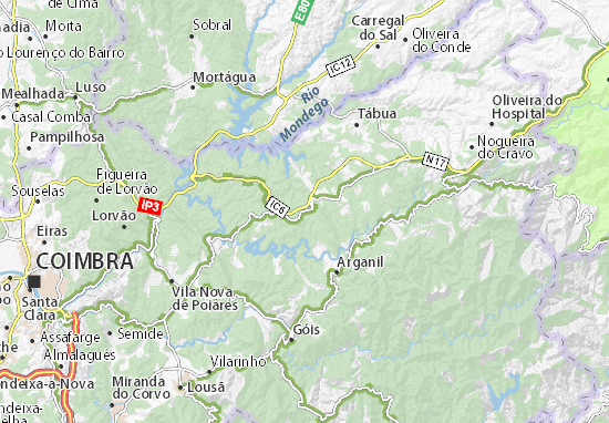 gois mapa Mapa Avelar   plano Avelar  ViaMichelin gois mapa