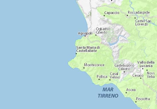 Cartina Geografica Roccaraso.Mappa Michelin Castellabate Pinatina Di Castellabate Viamichelin