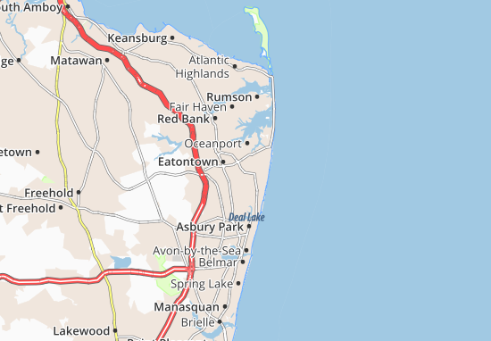 West Long Branch Map