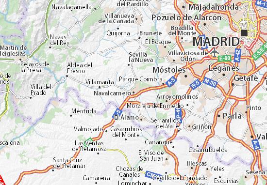 Karte Stadtplan Navalcarnero