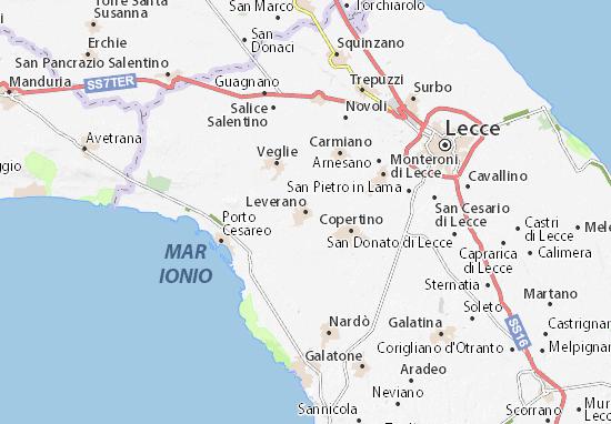 Leverano Map