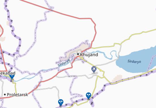 Mapa Plano Khujand