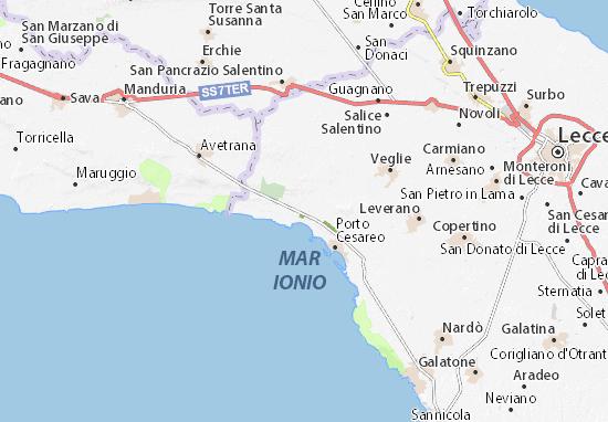 Cartina Puglia Nardo.Mappa Michelin Boncore Pinatina Di Boncore Viamichelin