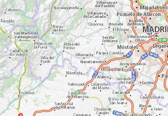 Karte Stadtplan Villamanta