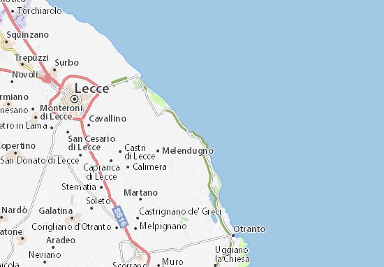 Cartina Geografica Roccaraso.Mappa Michelin San Foca Pinatina Di San Foca Viamichelin