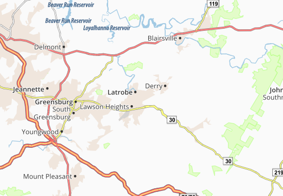 McChesneytown-Loyalhanna Map