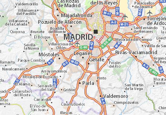 Leganés Map