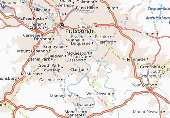 Glassport Map