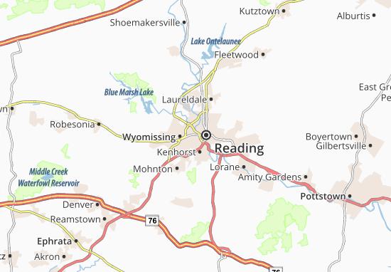 Carte-Plan West Reading