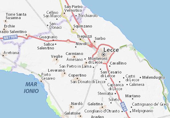 Arnesano Map
