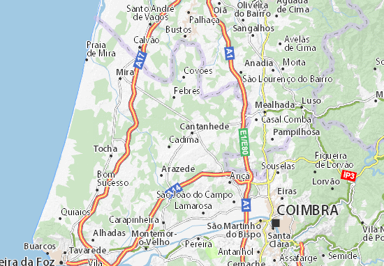 cantanhede mapa Mapa Cantanhede   plano Cantanhede  ViaMichelin cantanhede mapa
