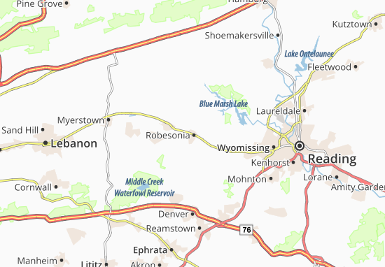 Robesonia Map