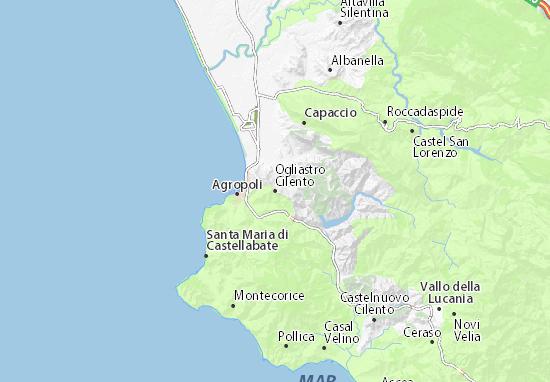 Mappe-Piantine Ogliastro Cilento