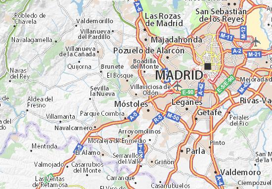Villaviciosa de Odón Map
