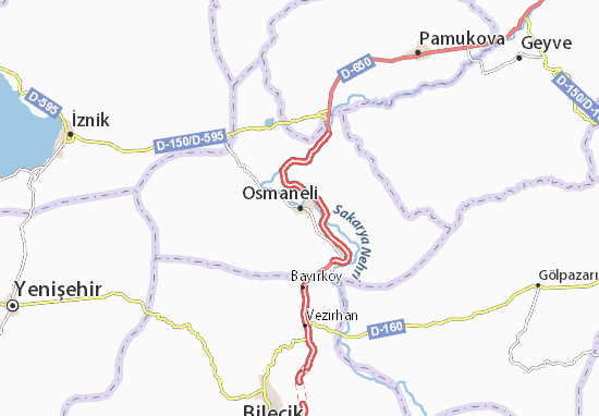 Carte-Plan Osmaneli