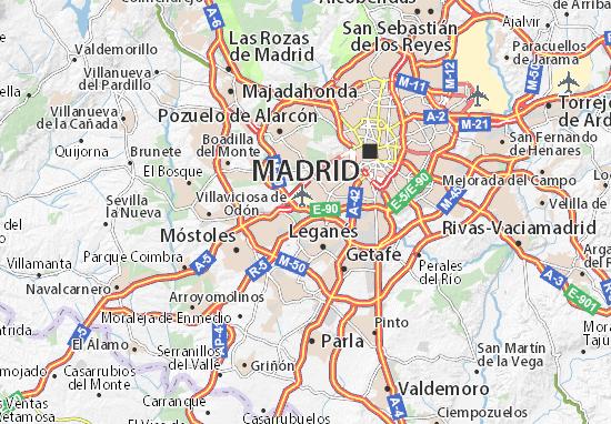 Mapa Barrio de la Fortuna  plano Barrio de la Fortuna  ViaMichelin