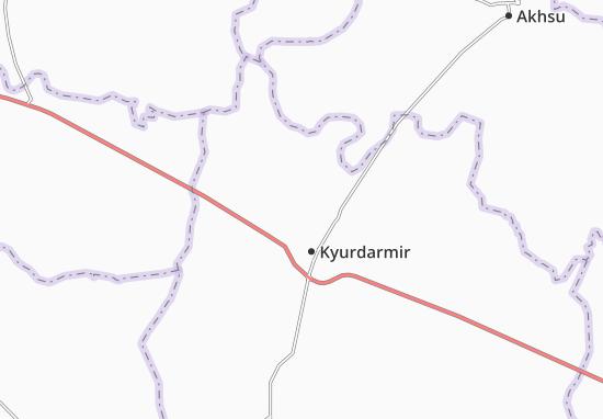 Kaart Plattegrond Karadzhaly