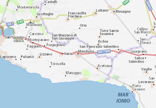 Kaart Plattegrond Manduria