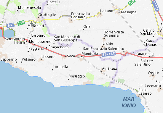 Manduria Map
