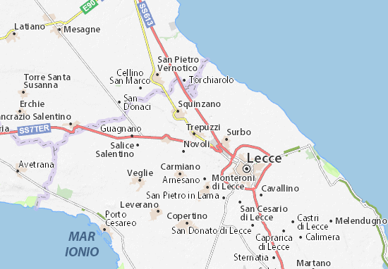 Trepuzzi Map