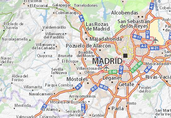 Karte Stadtplan Boadilla del Monte