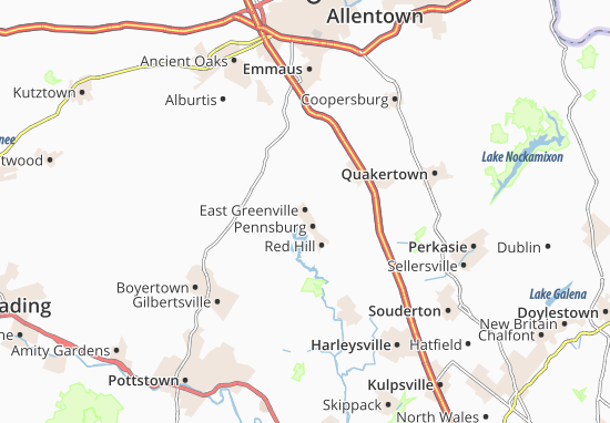 East Greenville Map