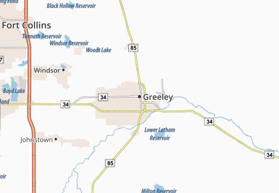 Carte-Plan Greeley