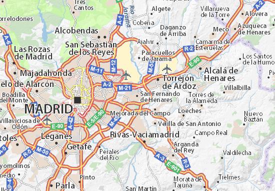 Kaart Plattegrond San Fernando de Henares