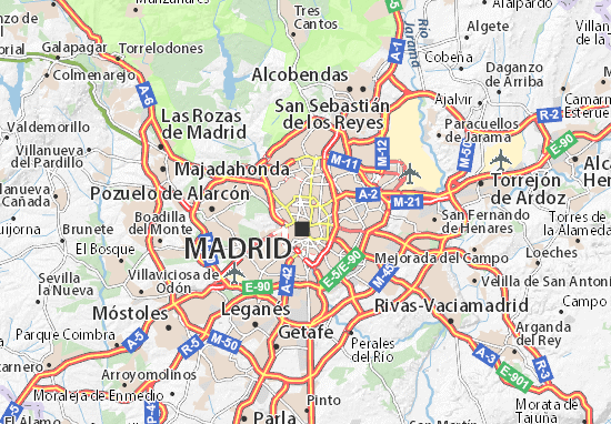 Mapa Madrid  plano Madrid  ViaMichelin